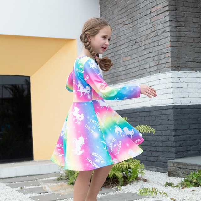 Unique Rainbow Unicorn Dress