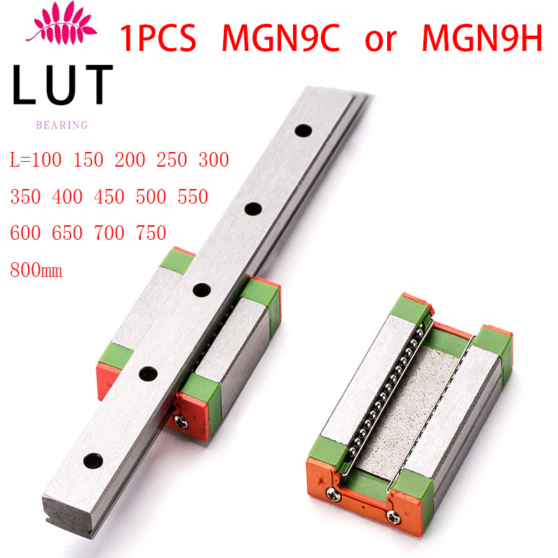 CNC part MR9 9mm linear rail guide MGN9 length 250mm with mini MGN9c Block