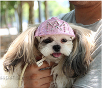 Kawaii Pets Store Jeans Fashion Dog Caps Hats Adjustable Head Circumference For Small Large Pets Cats