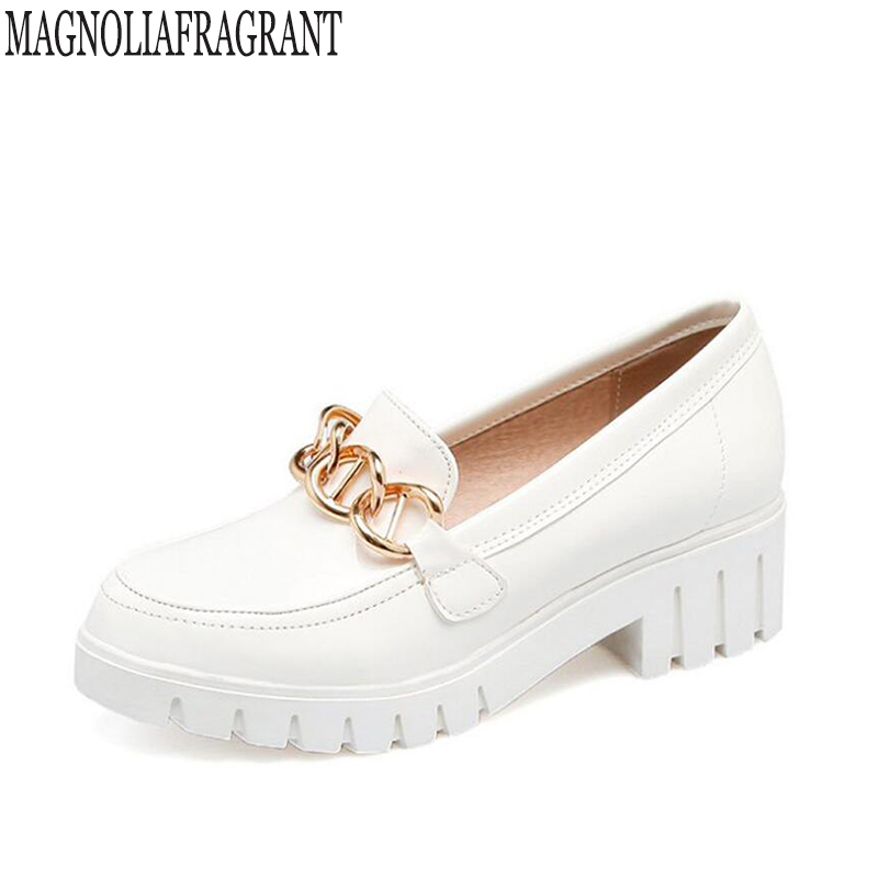 2017 Autumn Metal chain moccasin womens flats Fashion creepers shoes Bow lady flats loafers Ladies Slip On Platform Shoes k264 manitobah мокаксины sunshine moccasin женские бежевый