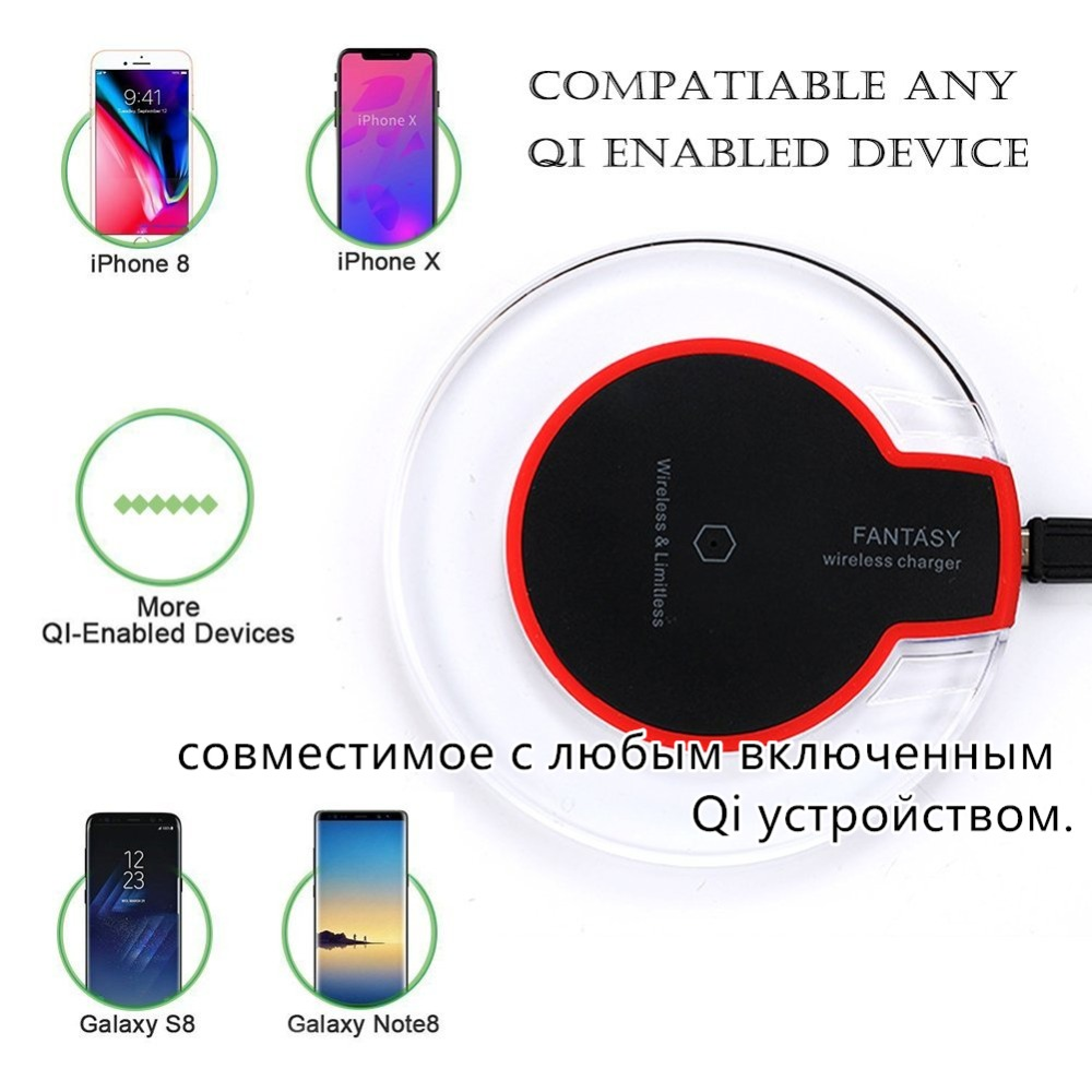 hight resolution of for samsung galaxy s8 s9 plus note 8 fantasy qi wireless charger charging pad mat for samsung for iphone x 8 dock cradle charger in wireless chargers from