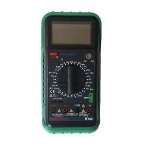 MASTECH MY62 Ручной цифровой мультиметр DMM с емкостью температуры и тестером hFE
