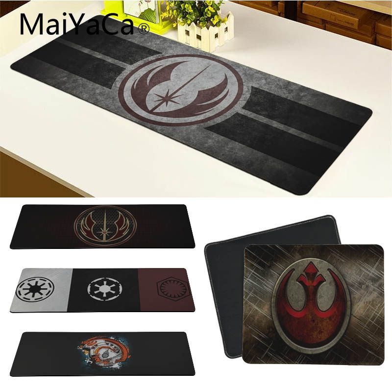 MaiYaCa Star Wars Simple Design Speed Game Mouse Pads Computer Gaming Mouse Pad Gamer Play Mats Version Mousepad For CS GO Dota image