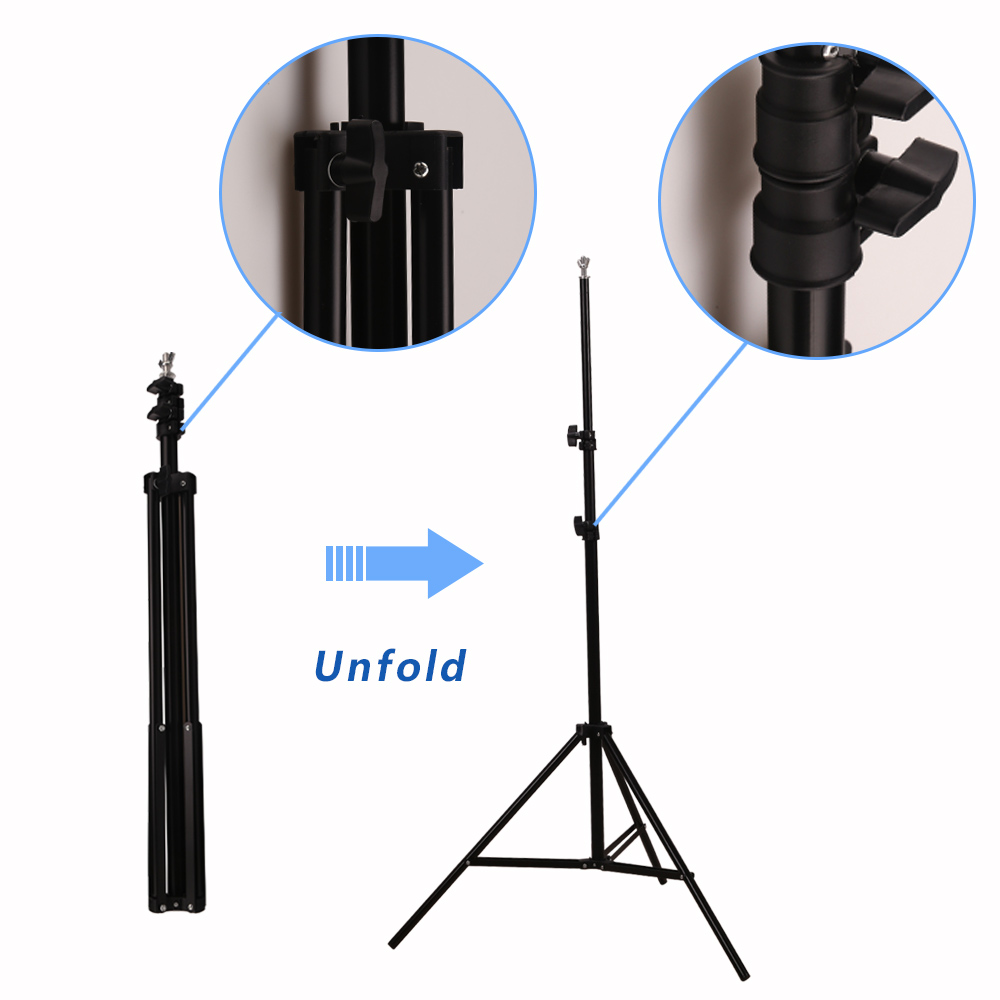 GSKAIWEN Backdrops Frame Background Support System Photography Studio Background Holder Camera Photo Accessories with Carry Bag 8