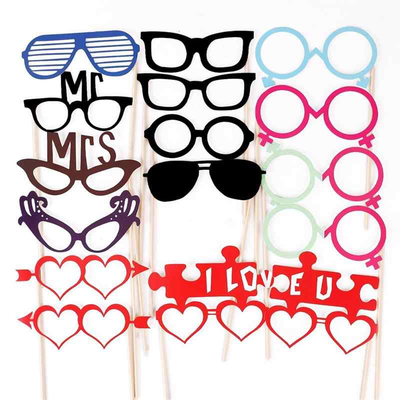 Wedding Photo Booth Props Party Decorations Supplies Mask Mustache For Fun Favors Photobooth Photocall