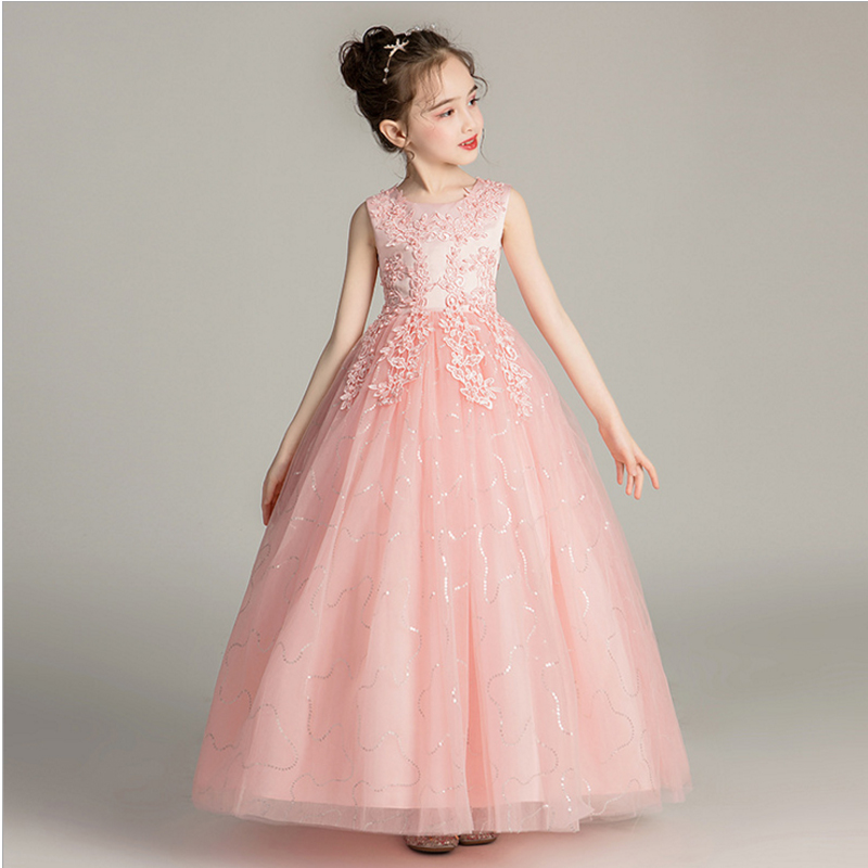 it's YiiYa   Flower     Girl     Dresses   for Wedding Kid Party   Flower   Embroid Tulle Princess   Dress   Cotton Lining Ball Gown 2019 BX683