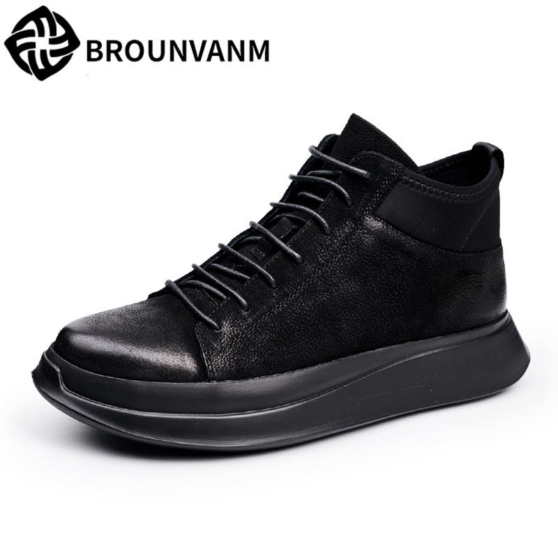 The European station in autumn and winter leisure sports shoes soled fashion high shoes retro lace nubuck leather shoes male you косметика для мамы venus swirl бритва с одной сменной кассетой