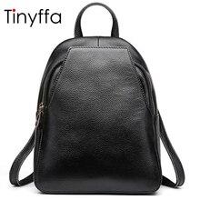 Tinyffa женские Натуральная кожа рюкзак женский школьный рюкзаки для девочек-подростков детская школьная сумка летняя Back Pack черный
