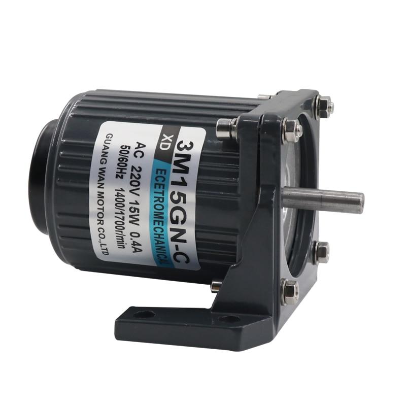 220 V moteur à courant alternatif, moteur de vitesse 15 W, 1400-2800 tr/min petit moteur miniature monophasé CW/CCW, avec régulateur de vitesse à courant alternatif