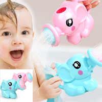 Baby cartoon elefanten dusche tasse neugeborenen kind dusche shampoo tasse baby dusche wasser löffel bad tasse 2 farbe