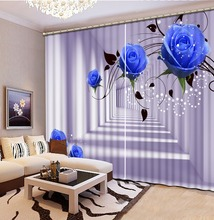 High Quality Blackout Elegant Curtains 3D Curtain For Bedroom Living Room Dining