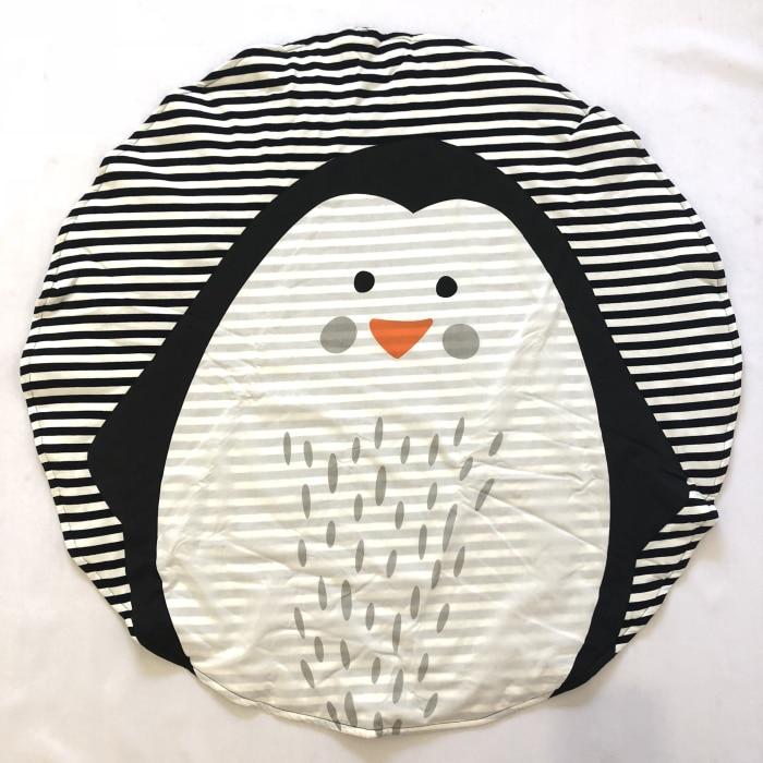 95 см детская игра коврики круглый коврик, мат хлопок Лебедь Ползания одеяло пол ковер для детской комнаты украшения INS подарки для малышей - Цвет: Penguin 90cm