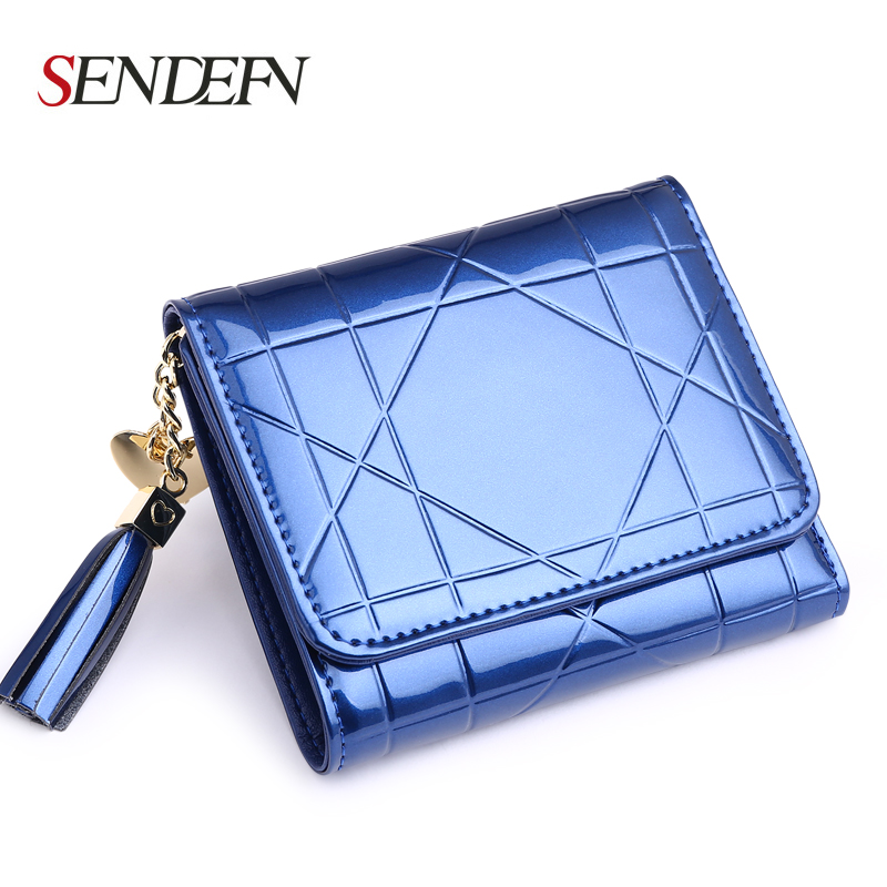 Tassel Design Leather Wallet Fashion Lovely Women Wallet Short Hasp Clutch Woman Wallet Coin Pocket Purse Card Holder european and american style tassel knitting short wallet women clutch purse pu leather ladies hasp coin bags female card holder