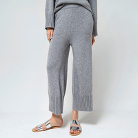 2018 осенние и зимние брюки минималистичные для похудения дикие женские кашемировые брюки из чистого кашемира свободные широкие брюки женск