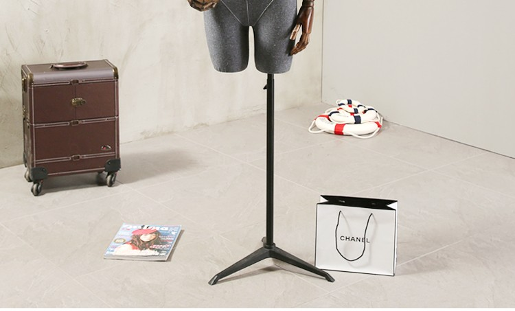 Props female half body mannequin cloth display rack high quality fashion mannequin women fabric mannequin with wooden arms (14)