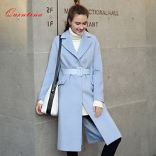 Quintina 2017 New Fashion Loose Women Long Coat Casaco Feminino Plus Size Female Overcoat Winter Coat Women