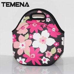 100% Neoprene lancheira térmica lancheira bolsa de franja bolsa termica almoço sacos saco de isolamento saco térmico para as mulheres ALB394D