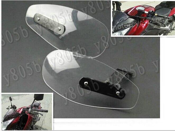 US $27 55 |Clear Wind Hand Guards Protector For Honda Yamaha Suzuki  Kawasaki Harley Bobber Custom Chopper Cruisers Street Bike-in Windscreens &  Wind