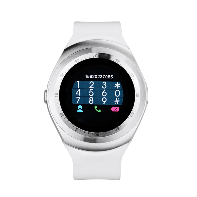 Yuntab Y1 Smart Watch Bluetooth Sleep Monitor Pedometer  1.54 inch Touch Screen for IOS Android, support SIM card (White)