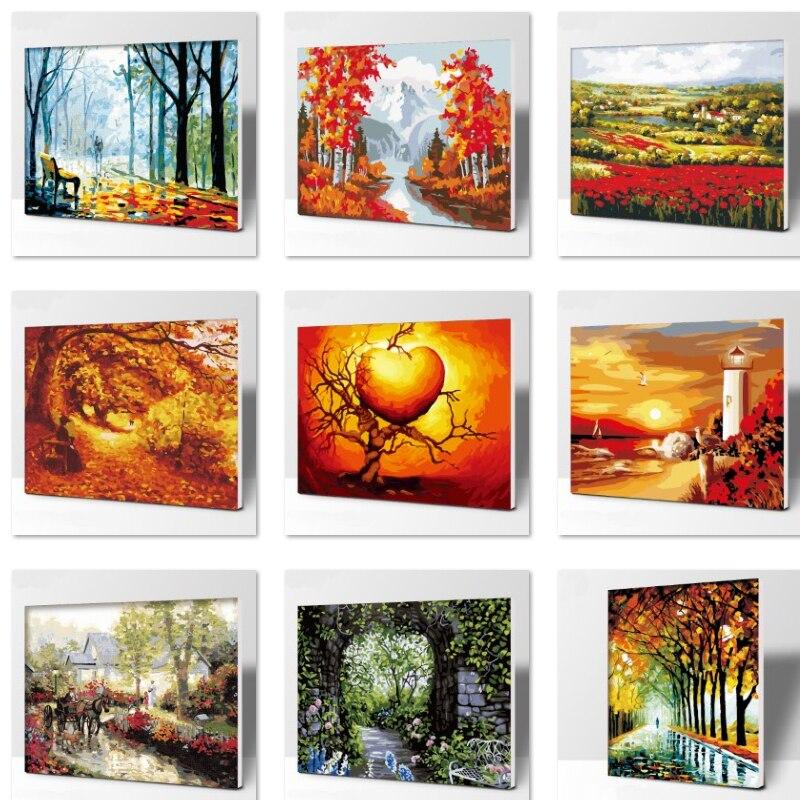 ᑎ‰Clásico número pintura al óleo cuadros de pared para comedor lona ...