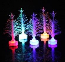 JXSFLYE Colorful LED Fiber Optic Night light Decoration Light Lamp Mini Christmas Tree 2019