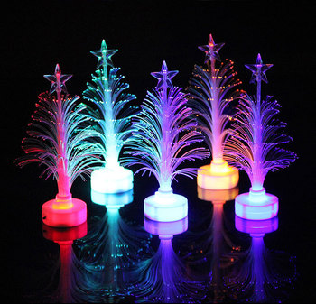 JXSFLYE Colorful LED Fiber Optic Night light Decoration Light Lamp Mini Christmas Tree 2019 Christmas Tree Light christmas tree 1 8 m 180cm white christmas tree decoration tree decoration packages suit tree