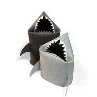 Creative Nordic Ins Felt Hamper Shark Folding Storage Bucket for Bedroom/Birthroom/Livingroom Toy/Sundries Laundry Basket S L