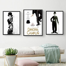 Classic Poster Movie Star Charlie Chaplin Canvas Pictures for Living Room Wall Art Print Picture Cuadros Decoration Salon(China)