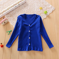New Tiny Cottons Children Cardigan Solid V-neck Spring Clothing Wear 2-7Y Sweaters Baby Cardigan For Girls Boys AS-1630