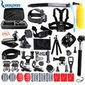 50-em-1 sports action camera kit acessórios para gopro hero 3 3 + 4 SJ4000 SJ5000 Impermeável Câmera de Vídeo com Bolsa de transporte GS24