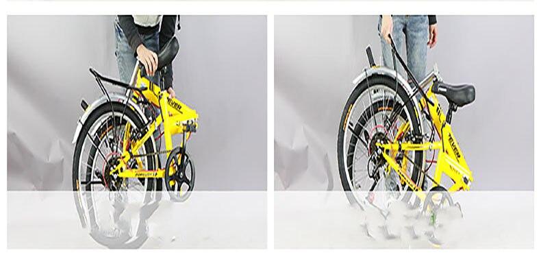 Bicicleta dobrável adulto velocidade variável dianteiro e