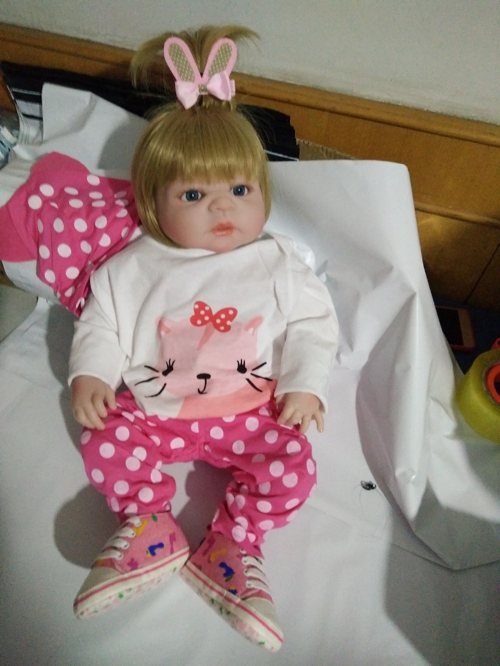 New Arrival 23'' 57cm Reborn Girl Doll Realista Full Silicone Body Lifelike Baby Doll Toys For Kids Child Bedtime Play Xmas Gift new arrival 23 57cm baby girl doll full silicone body lifelike bebe reborn bonecas handmade baby toy for kids christmas gifts