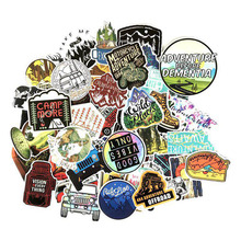 65pcs Enjoy outdoor travel style graffiti stickers Waterproof PVC DIY Refrigerator Guitar Luggage Decoration Stick