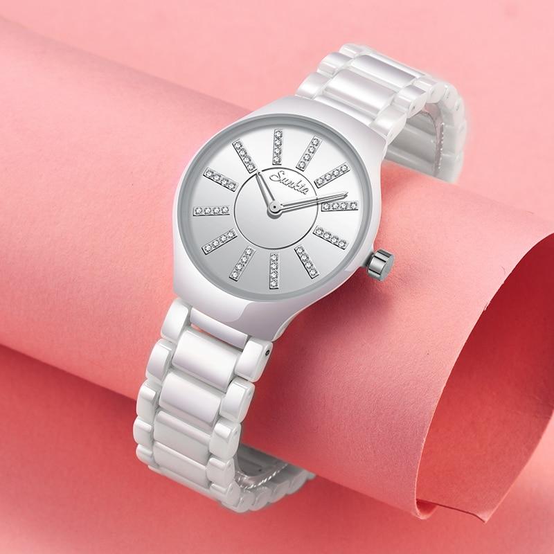 2019New Brand  Bracelet Watches Women Luxury Crystal Dress Wrist Watches Clock Women's Fashion Casual Quartz Watch Reloj Mujer