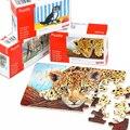 24 PCs quebra-cabeças de madeira caixa de presente/bonito animal puzzle brinquedos de montar 16.5 * Cm, crianças Crianças aprendendo brinquedos educativos