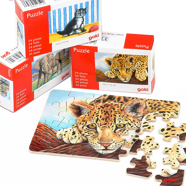 Wooden Puzzles Animal Assemble Puzzle Toy