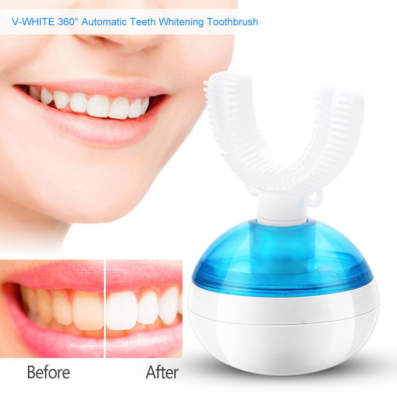 Electric Toothbrush Ultrasonic V-shape 360 Degree Automatic Toothbrush Dental Care Wireless Charging Teeth Whitening in stock whitening automatic toothbrush automatic electric ultrasonic toothbrush 2 head fast cleaning teeth wireless charging