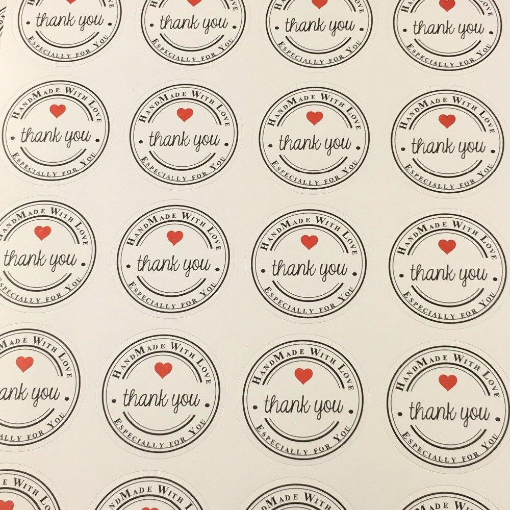 300PCS/Lot 3.5cm Labels Die Logo ''THANK YOU