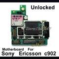 Alta calidad Original Placa Base Placa Base Para sony ericsson c902 3G 5MP Abrió El Teléfono Con Fichas Completas Placa Lógica