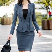 Women Office Dress Suit For Ladies Plus Size Formal Business Wear With Jacket Blazer New Slim Bodycon Elegant Female Dress Set