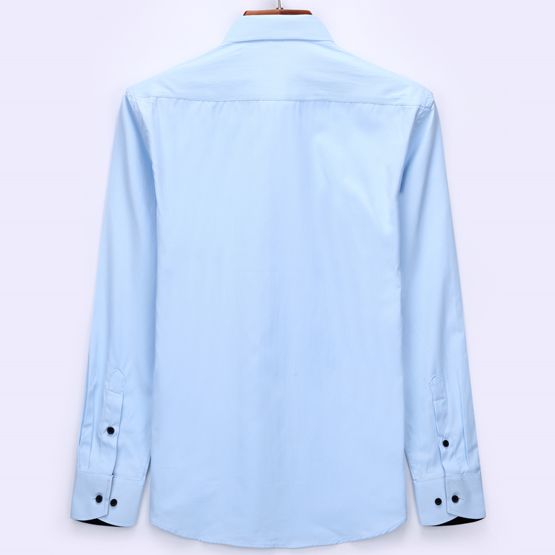 Männer langärmeliges hemd slim fit stil design einfarbig business - Herrenbekleidung - Foto 3