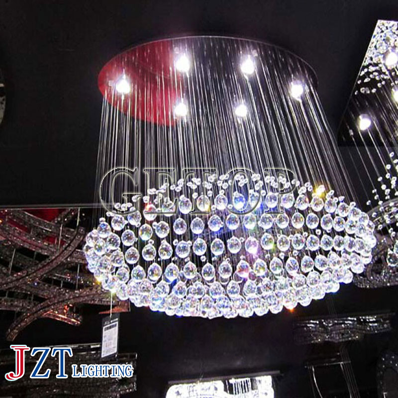 J best price oval shape crystal ceiling lamp luxurious crystal Led light for hotel lobby large luxury project lighting fixture best price rectangular crystal chandeliers k9 crystal ceiling lamp lighting fixtures restaurant led lighting e14 free shipping