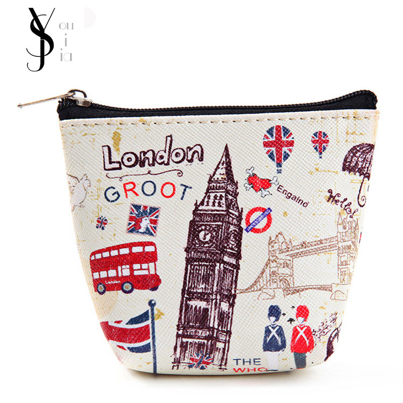 London Canvas Coin Purse & Wallet Case BAG Women Handbag Makeup Storage Holder Case BAG Pouch European American Style Vintage 360 degrees rotating pu leather cover case for apple ipad 2 3 4 case stand holder cases smart tablet cover a1395 a1396 a1430