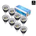 8 Unids/lote GU10 7 W COB LED bombillas Del Punto de 110 v 220 v bombillas led SMD3528 proyector 240 v de alta potencia led lampsQuality Garantía