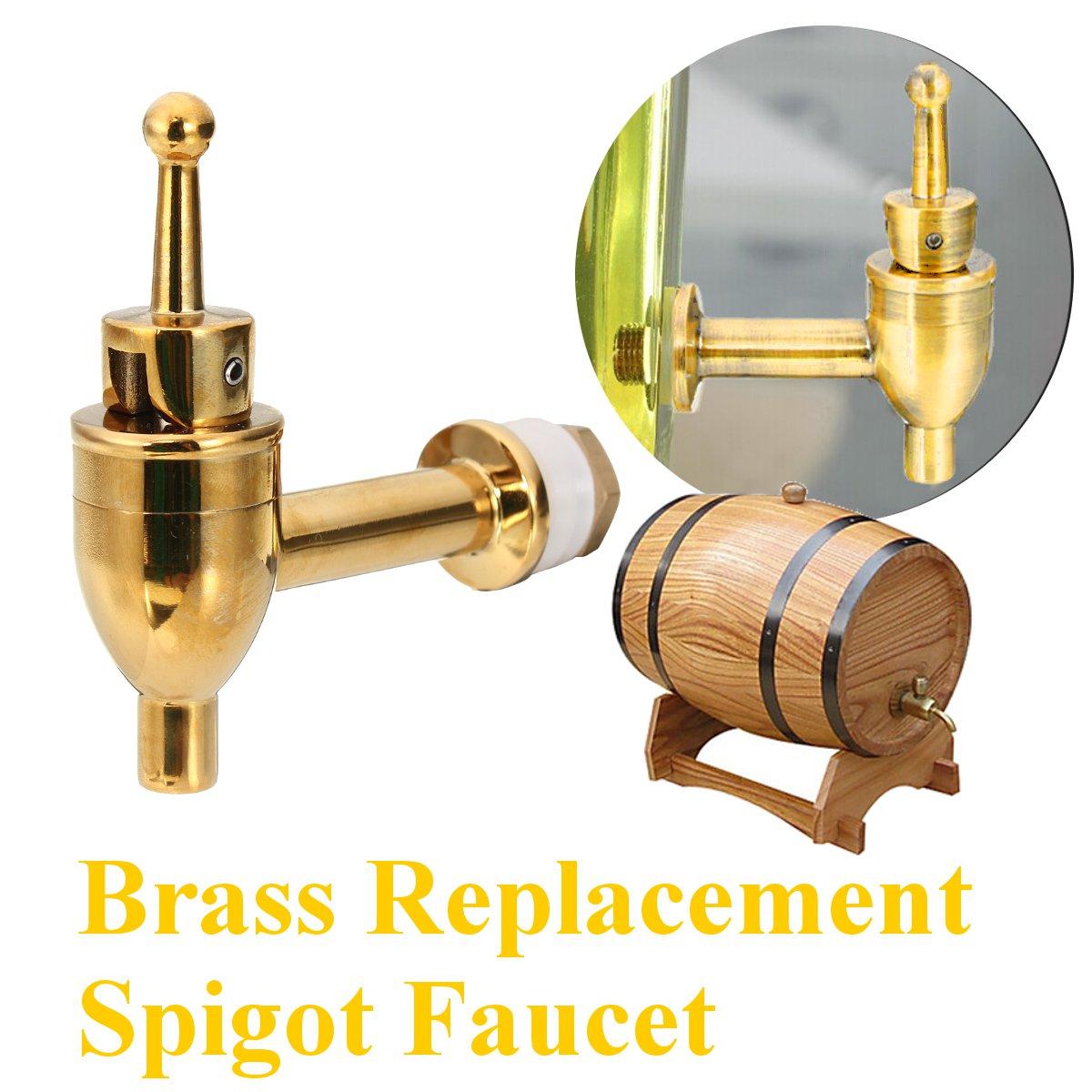 Brass Replacement Spigot Faucet Drink Dispenser Beverage Wine Barrel Tap Water Coffee Juice Faucet For Drink Beverage Dispenser