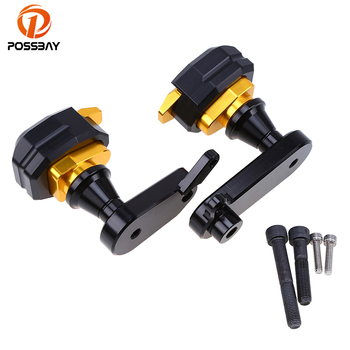 POSSBAY Black/Gold/Blue/Titanium Motorcycle Frame Sliders Anti Crash Pads Fit For Kawasaki ZX6R 2009 2010 2011 2012