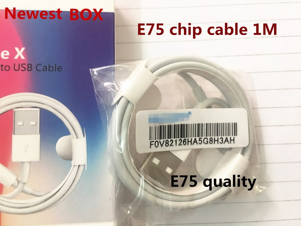 100Pcs/lot,Newest original AAAAA quality E75 Cable Chip OD 3.0mm For iPhone XS X 8 7 SE 5 5S 6 6s plus iPad with retail box-in Phone Accessory Bundles & Sets from Cellphones & Telecommunications    1