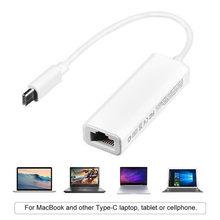 Adaptateur Ethernet Gigabit USB 2.0 de Type C, USB-C à RJ45 Lan, carte réseau pour Macbook, ordinateur portable