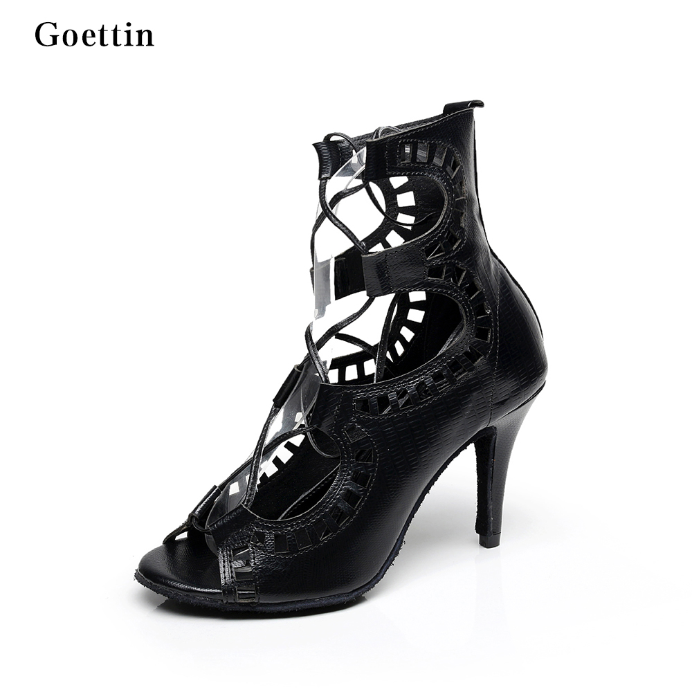 hete verkoop 8.5cm hoge hakken sexy lace-up latin schoenen dames stijldansen schoenen