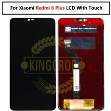 Para xiaomi redmi 6 plus redmi 6 mais tela lcd + painel de toque digitador para xiaomi redmi 6 plus ferramentas